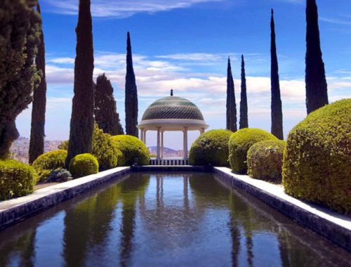botanic garden and historic in malaga