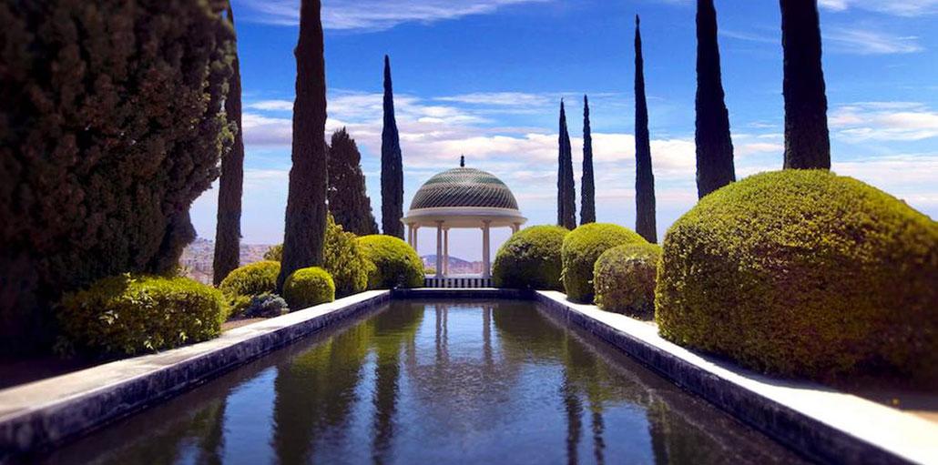 botanic garden and historic in malaga
