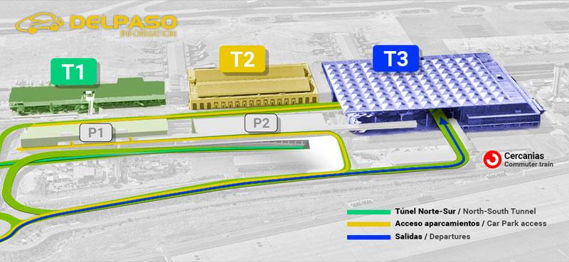 malaga airport map terminal 3